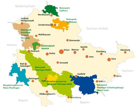 Die Nationalen Naturlandschaften Thüringens