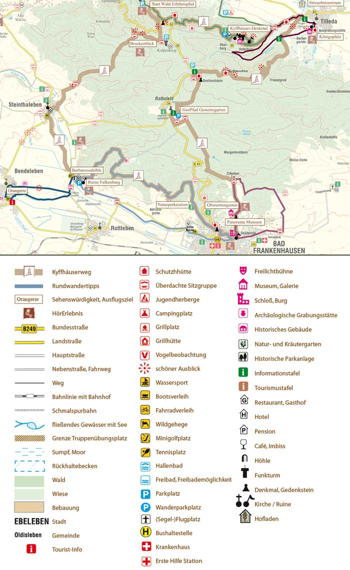 Overview Map of Kyffhäuser Trail
