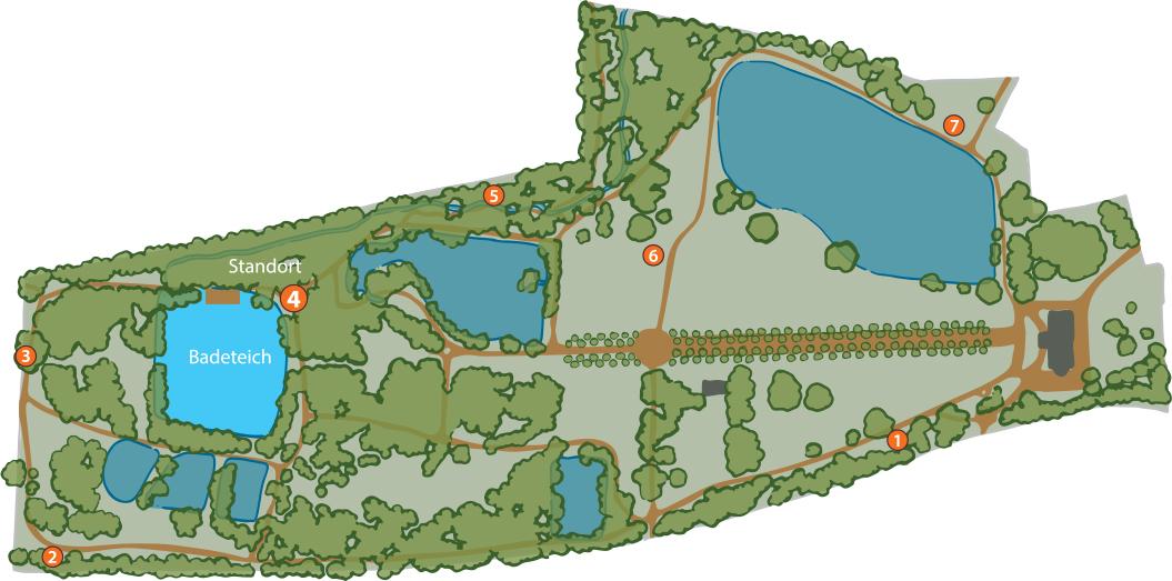 Plan Park Bendeleben Karte 4